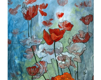 Poppies Limited First Edition Signed Print