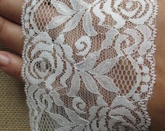 "White lace jar wrap - 12"" - David Tutera - Perfect for mason jars"