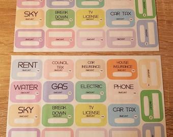 Bills Paid Planner Stickers