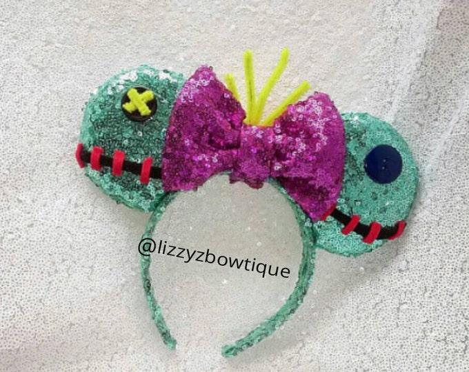 Lilo and Stitch Scrump Doll Sequin Minnie ears