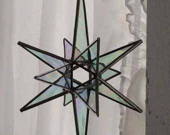 "Stained glass star - 7""   12 point, open center"