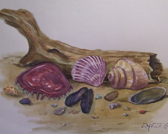 Left in The Sand,16 x 20 Original Watercolor,ONE OF A KIND, Not a Print,