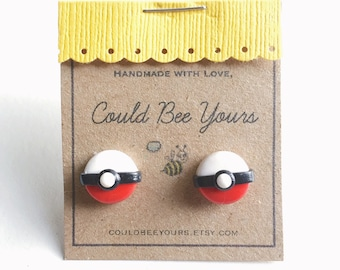 Pokemon Pokeball  Earrings
