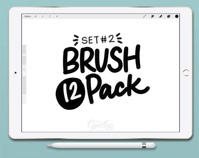 Featured listing image: Procreate Brush : Brush Pack #2 12 Brushes Total