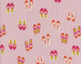 Cotton + Steel Panorama Sunrise - Oxford in Lollipop - Pink Shoes Fabric - Unbleached Quilting Cotton Fabric by the Yard