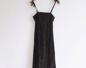 80s Metallic Stripe Dress