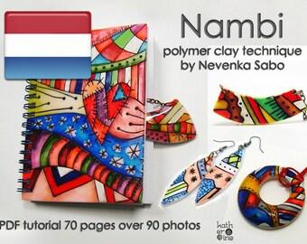 Polymeerklei handleiding in het Nederlands, PDF-handleiding, Nambi techniek, Originele E-book, DHZ idee, stap-voor-stap-instructies