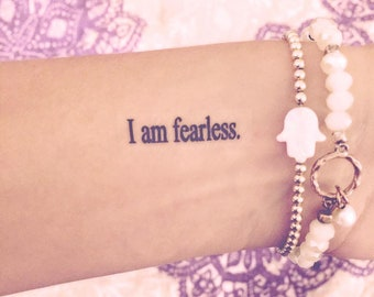 Affirmation Set (Basic font) -- Temporary Tattoos