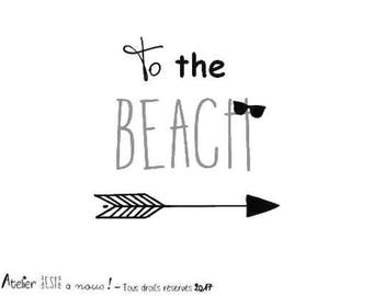 """""""To the beach"""" Flex fusible pattern (choose size)"""