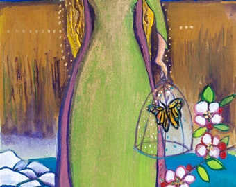 Small Print Goddess Art - Etain, Celtic Goddess of Love, Transformation and Rebirth