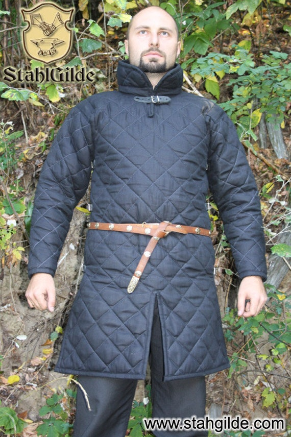 Gambeson, Medieval, Celtic, Viking, Armor ,Padded Gambeson, Long Sleeves, buckles on the front, 120cm