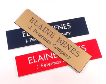 "Name Plate, 2"" x 8"", 20 Color Combinations, Office/Door Sign"