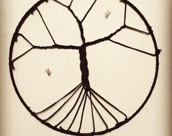 Tree of life hanging circular wall decoration