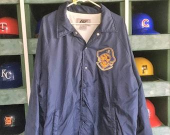 Vintage 1980s Pirate Full Snap Windbreaker Baseball Style Jacket
