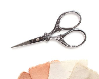 Small silver scissors, Embroidery, Sewing scissors