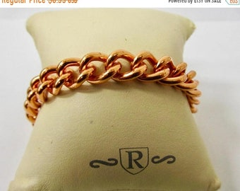 On Sale Vintage Solid Copper Link Bracelet Item K # 799
