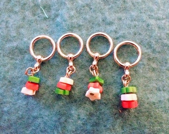 Christmas Button Knit Markers Set