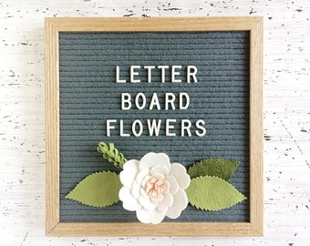 Flowers for your Letter Board  - Add-ons for Felt Letter Boards - Decor for Photo Props, Parties, Showers, Weddings and Every Day