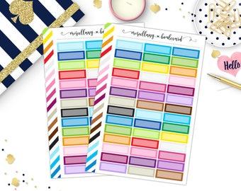 Rainbow Simple Quarter Boxes | 0114 MINI BINDER