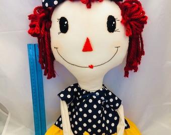 Raggedy ann - raggedy ann and andy - primitive dolls - cloth dolls - handmade dolls - fabric dolls - vintage dolls - folk art dolls - art