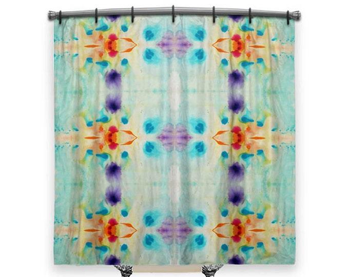 Featured listing image: BOHO Shower Curtain, shower curtain, Artsy Shower Curtain, Bohemian Shower curtain, shower curtain Art, Fabric shower curtain, Bath Decor