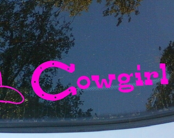 Cowgirl Up Vinyl Decal 2