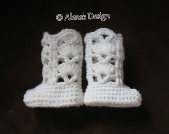 """Crochet Pattern 181 Crochet Boot Pattern Crochet Patterns Elegant Boots for 18"""" Doll White Boots for American My Life Doll Outfit"""
