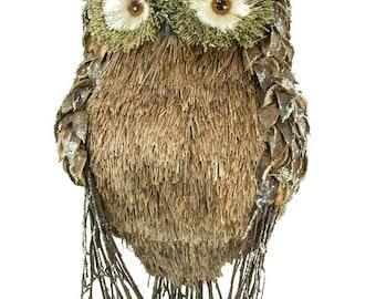 "SALE!!! 20"" Rustic Owl/Wreath Supplies/Fall Decoration/72623"