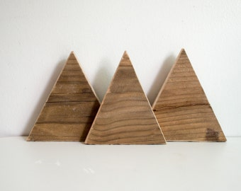 Top Wood Decorations Mountains Handmade From Refurbished Oregon Wood | Souvenier From Utah Park City and Salt Lake City