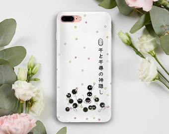 Susuwatari Phone Case, iPhone 5S Case, iPhone 6S Plus, iPhone 7 Case, iPhone 8 Plus Case, Samsung Galaxy S8 Case, Samsung Galaxy S7 Case
