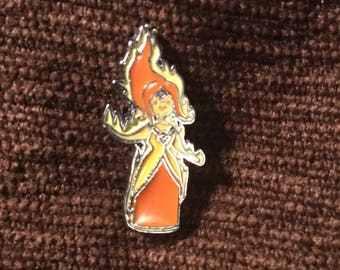 Flame Princess hat pin