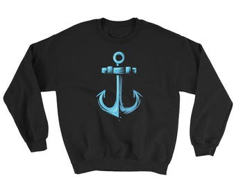 Anchor Sweatshirt, Sailing Sweatshirt, Nautical Sweatshirt, Anchor Clothing, Sailing Clothing, Nautical Clothing, Anchor Clothes