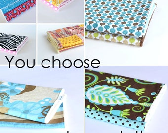 You choose Minky Burp Cloths Baby Girl, Baby Boy, Unisex Baby