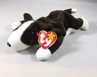 Bruno the Terrier Plush TY Beanie Baby Retired Stuffed Vintage Toy