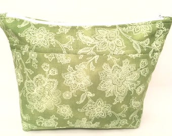 Cosmetic Bag - Toiletry Bag - Zippered Pouch