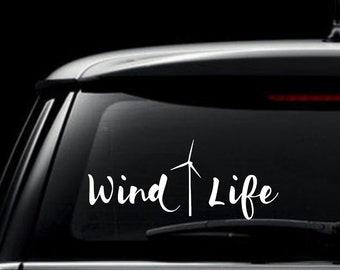 Wind Life Decal, Windmill, Wind Turbine