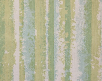 1960s Vintage Wallpaper Retro Blue And Green Mod Stripe Textured by the Yard