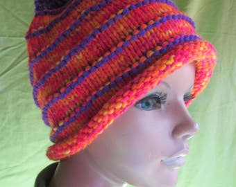 Never-get-lost-in-a-crowd Cloche Knitted Hat