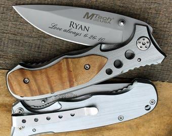 Personalized knife, Custom knife, Engraved Pocket Knife/Laser Engraved, personalized knife, wedding gift, anniversary gift, groomsman gift
