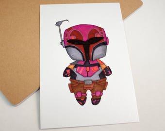 Mini Sabine Wren - 4x6 Print [ Star Wars / Fan Art / Chibi ]