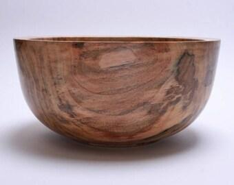 "Spalted Ambrosia Maple Wooden Bowl #1707  9"" X 4 1/2""  Wooden bowls, hand turned bowl, wood bowls, bowls, maple bowls, ambrosia maple bowl"