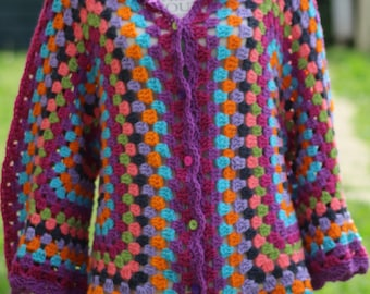 Multicolor colorful shrug jacket
