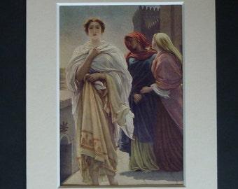 1913 Antique Greek Mythological Print of Helen of Troy Available Framed Myth Art Frederic Leighton Decor Neoclassical Gift Mythology Picture