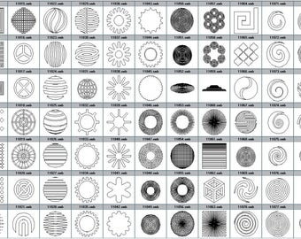 Your drawing geometry round square engraving to choose from pictured