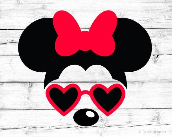 minnie mouse svg minnie mouse silhouette sunglasses svg minnie