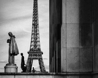 Eiffel Tower from The Trocadero in Paris - Wall Art, Fine Art Print, Cityscape, Travel Europe, Print