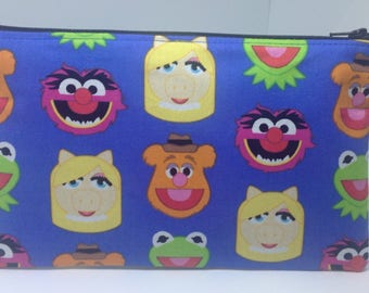 The Muppets Zipper Pouch ~ School Supply Case ~ Cosmetics Bag ~ Pencil Pouch ~ Essentials Pouch