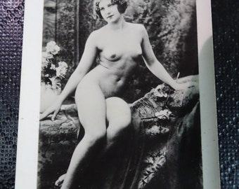 Photo, 1930, Glamour, Sensual, Nude, Original, Rare, Art Deco, Paris, naked.