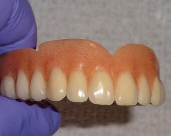 FULL UPPER DENTURE..Real False Teeth