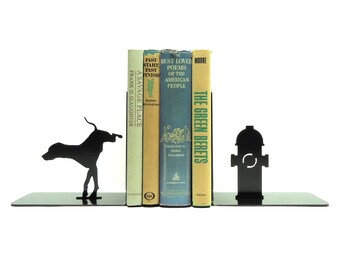 Dog & Fire Hydrant Bookends